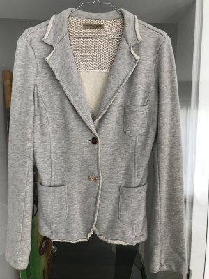 Lässiger Sweatshirt-Blazer mit bunten Knöpfen, Gr 38