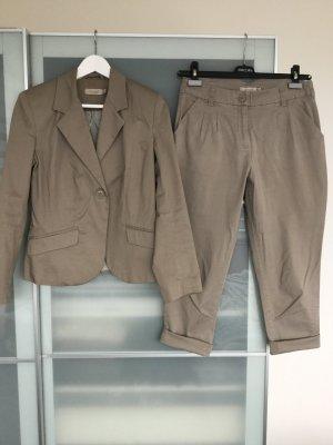 Bon'a Parte Traje de pantalón marrón grisáceo