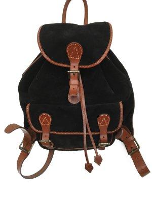Lässiger Vintage Wildleder Rucksack Leder Lederrucksack Velour Hippie Boho Backpack