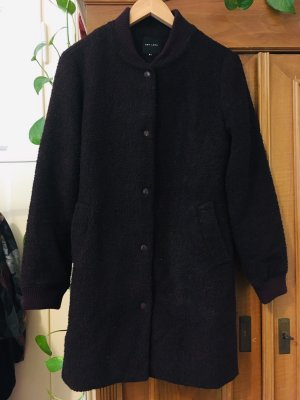 New Look Abrigo de lana burdeos-violeta amarronado