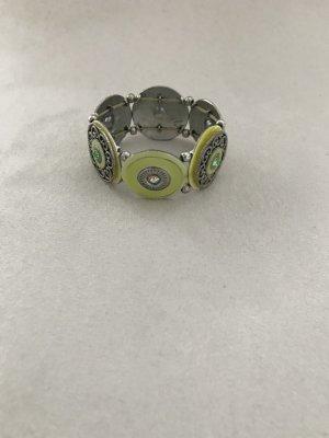 Lässiges Armband in kräftigen gelb/grün Farbtönen