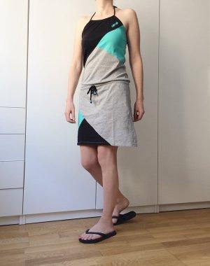 Lässiges Beachdress / Neckholder - Größe S-M-L - Grau Schwarz Mint