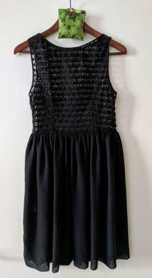 American Apparel Vestido de chifón negro