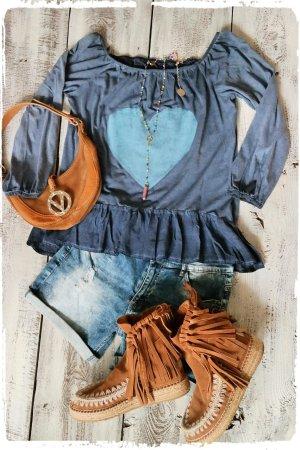 Tunique-blouse bleu-bleuet