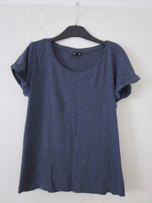 Lässiges grau blaues Basicshirt