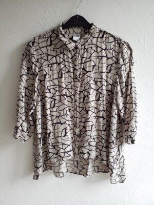 Lässiges grau schwarzes Hemd / Bluse