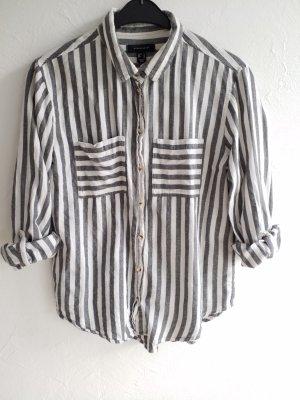 Lässiges grau weißes Hemd / Bluse