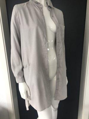 Zara Camisa de manga larga gris claro lyocell