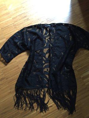 Lässiges Kimono-Oberteil / Jacke mit Fransen von Vila, Onesize