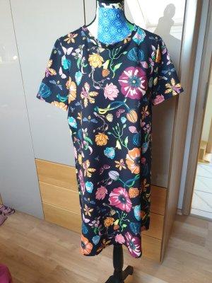 Zara Vestido estilo camisa multicolor