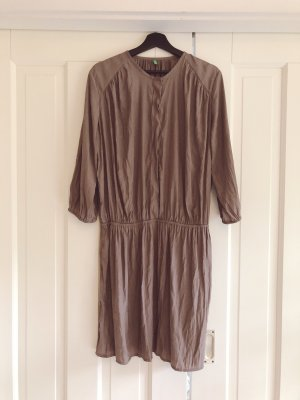 United Colors of Benetton Blouse Dress brown-grey