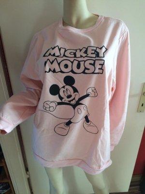 Lässiges kuschliges Rosa Mickey Mouse Sweatshirt Gr.52-Neu