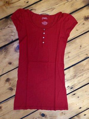 Puriti Camicia lunga rosso scuro
