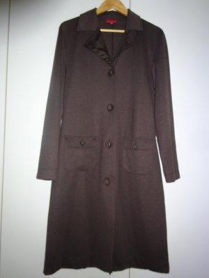 Laura di Sarpi Gabardina tipo vestido marrón-marrón oscuro tejido mezclado