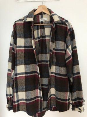 Camicia da boscaiolo bronzo-carminio