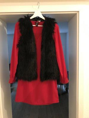 Lässiges oversize Kleid mit Kuschel Weste By H&M