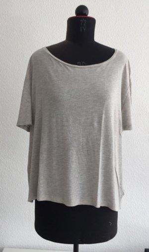lässiges oversize Shirt in hellgrau meliert von COS, Größe L (onesize)