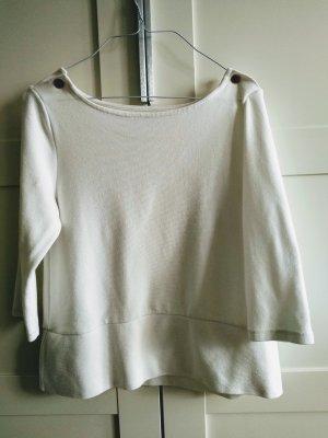 Zara Knit Camisa tejida blanco puro