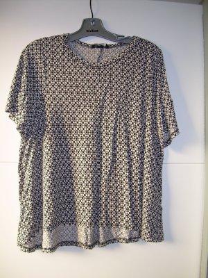 lässiges schwarz-weiß gemustertes T-Shirt von H&M Gr. L 40/42 oversize