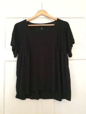 H&M Oversized shirt zwart Viscose