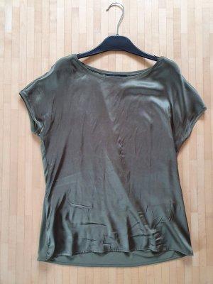 Hallhuber Camisa holgada gris verdoso-caqui