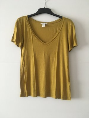 Lässiges senfgelbes Vintage Shirt