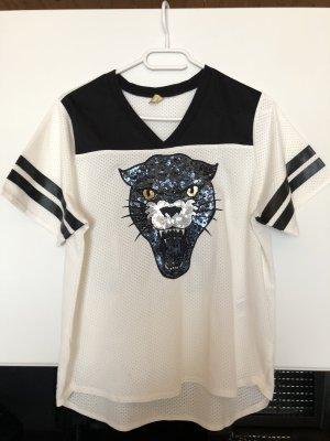 H&M T-shirt zwart-wit
