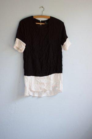 Lässiges Shirt Kleid schwarz-weiß H&M 38