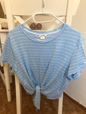 Monki Camicia bianco-azzurro Cotone