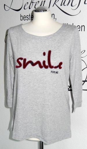 """Lässiges Shirt mit Statement """"Smile for me"""" - NEU!!"""