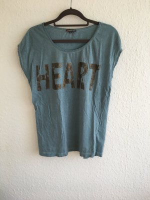 lässiges shirt t-shirt mit print