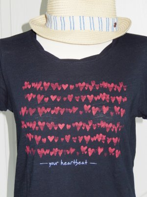 Lässiges Slub-Shirt --your heartbeat--