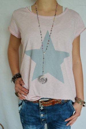 Lässiges Stern Shirt rose
