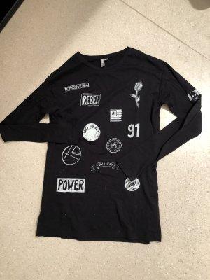 Asos Shirt zwart-wit