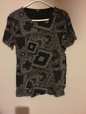 Lässiges T-Shirt mit Muster