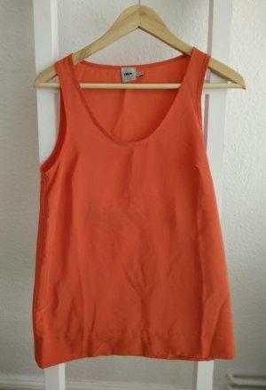 Asos Top basic arancio neon