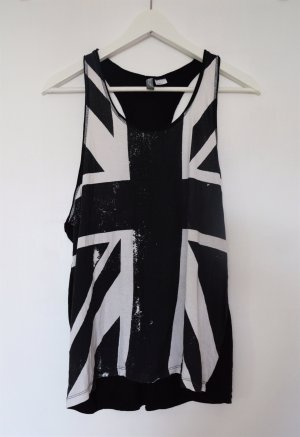 lässiges Top - Union Jack - Racerback - black/white
