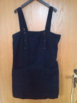 Lässiges Trägerkleid aus dunkelblauem Cord