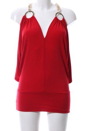 Laeticia Dreams Cut Out Top red elegant