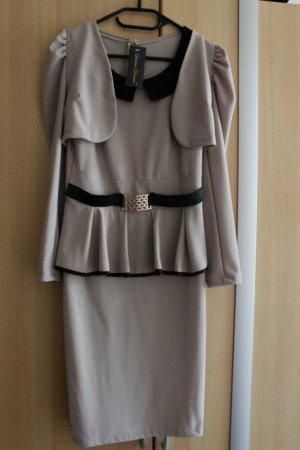 Peplum jurk veelkleurig Polyester
