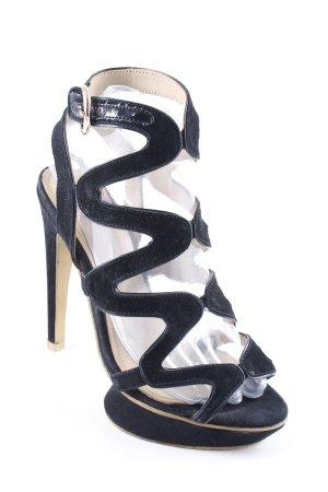 Laetitia klein Plateau-Sandaletten schwarz Elegant