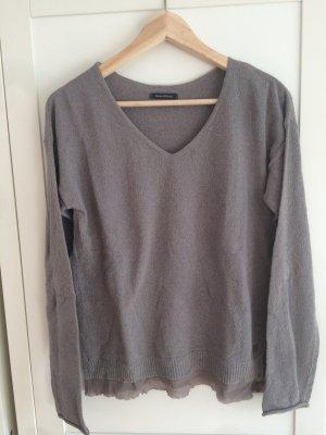 Lagen Pullover mit V-Ausschnitt Khaki schlamm 38 Marc O'Polo