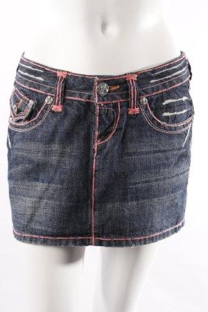 Laguna Beach Jeans-Minirock Ziersteppungen