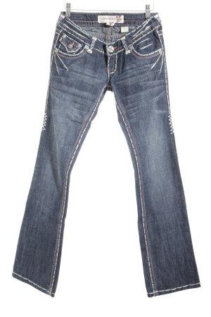 Laguna Beach Jeansschlaghose dunkelblau extravaganter Stil