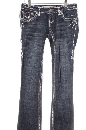 Laguna Beach Straight-Leg Jeans dunkelblau extravaganter Stil