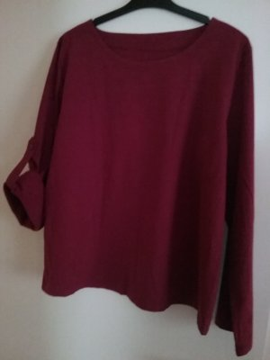 Linen Blouse dark red