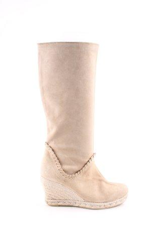 lait&miel Plateau-Stiefel creme Casual-Look