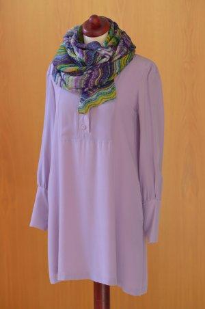 LALA BERLIN 36 Seide violett flieder Tunika Kluse Blusenkleid Kleid Hemdkleid