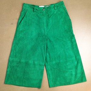 * LALA BERLIN * NEU ! CULOTTES ZIEGEN -VELOURLEDER high waisted grün Bermuda Shorts Gr S  36