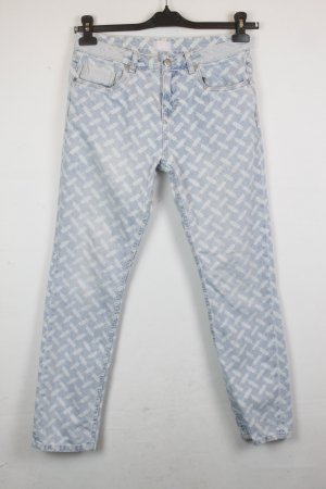 Lala Berlin Regular Fit Jeans Gr. 27 gemustert | Modell: Bruna Kuffieh Light Blue